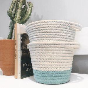 [H o m e] Set of 2 Cotton Storage Rope Basket